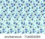 watercolor pattern of flowers... | Shutterstock . vector #716003284