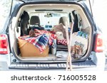 Trunk Of Suv Packed For A...