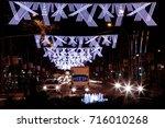christmas light decoration... | Shutterstock . vector #716010268