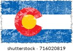 the flag of colorado. the state ... | Shutterstock . vector #716020819