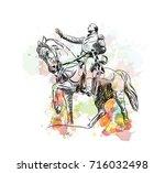 watercolor sketch of general... | Shutterstock .eps vector #716032498