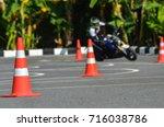traffic cones in driving school | Shutterstock . vector #716038786