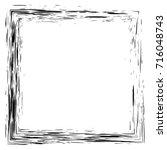 grunge hand drawn splash ... | Shutterstock .eps vector #716048743