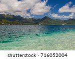 sunken island    looking back... | Shutterstock . vector #716052004