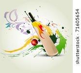 vector cricket bat on abstract... | Shutterstock .eps vector #71605654