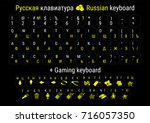 stickers for russification of... | Shutterstock .eps vector #716057350