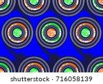african fashion textiles  super ... | Shutterstock .eps vector #716058139