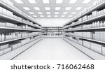 interior of a supermarket with... | Shutterstock . vector #716062468