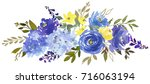 royal blue violet yellow...   Shutterstock . vector #716063194