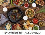 outdoors food concept.... | Shutterstock . vector #716069020