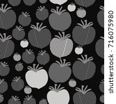 stripe  tomato  seamless... | Shutterstock . vector #716075980
