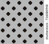 knitted seamless pattern polka... | Shutterstock .eps vector #716080948