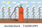 pesticides and chemicals used... | Shutterstock .eps vector #716081494