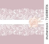 greeting card with lace for... | Shutterstock .eps vector #716088556