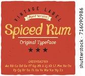 vintage label typeface named ... | Shutterstock .eps vector #716090986