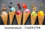 various of ice cream flavor in...   Shutterstock . vector #716092798
