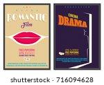 vintage retro style vector... | Shutterstock .eps vector #716094628
