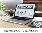regulations and compliance... | Shutterstock . vector #716095534