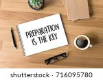 be prepared and preparation is... | Shutterstock . vector #716095780