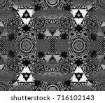 ethnic design. striped... | Shutterstock . vector #716102143