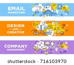 vector set of banner... | Shutterstock .eps vector #716103970
