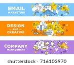vector set of banner... | Shutterstock .eps vector #716103970