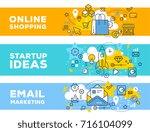 online shopping   startup ideas ... | Shutterstock .eps vector #716104099
