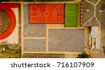 top view of the basketball... | Shutterstock . vector #716107909