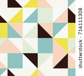 geometric abstract squares and... | Shutterstock .eps vector #716111308