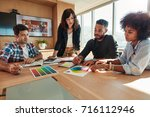 group of creative designers... | Shutterstock . vector #716112946