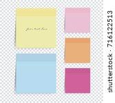 sticky note | Shutterstock .eps vector #716122513
