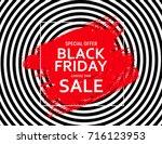 black friday sale banner... | Shutterstock .eps vector #716123953