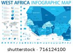 west africa map   detailed info ... | Shutterstock .eps vector #716124100