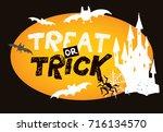 halloween hand drawn characters ... | Shutterstock .eps vector #716134570