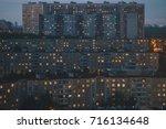 dormitory buildings in a... | Shutterstock . vector #716134648