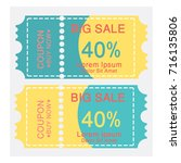 coupon design vector | Shutterstock .eps vector #716135806