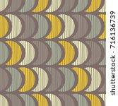 ethnic boho seamless pattern.... | Shutterstock .eps vector #716136739