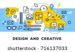 design and creative concept on... | Shutterstock .eps vector #716137033