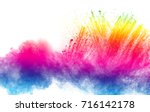 abstract multicolored powder