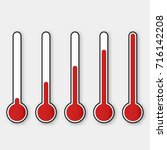 vector of thermometers at... | Shutterstock .eps vector #716142208