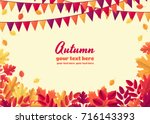 horizontal template with... | Shutterstock .eps vector #716143393