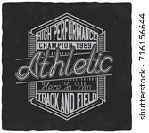 vintage label design with... | Shutterstock .eps vector #716156644