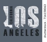 los angeles t shirt and apparel ...   Shutterstock .eps vector #716158063