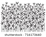 bamboo decorative black...   Shutterstock .eps vector #716173660