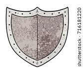 cartoon shield | Shutterstock .eps vector #716181220