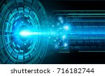 binary circuit future... | Shutterstock . vector #716182744