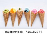 various of ice cream flavor in... | Shutterstock . vector #716182774