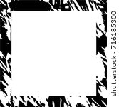 dark black white grunge square... | Shutterstock .eps vector #716185300