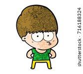 curious cartoon boy   Shutterstock .eps vector #716188324