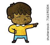 cartoon curious boy   Shutterstock .eps vector #716190304